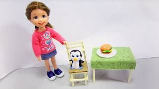 Make A Table And Chair From Match Sticks For Your Doll House - Doll Crafts
