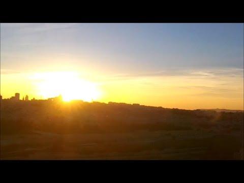 Evening walk Mount of Olives Jerusalem Israel