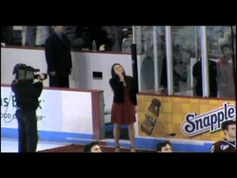 """Julie Earls - """"Star-Spangled Banner"""" at BU vs. BC ..."""