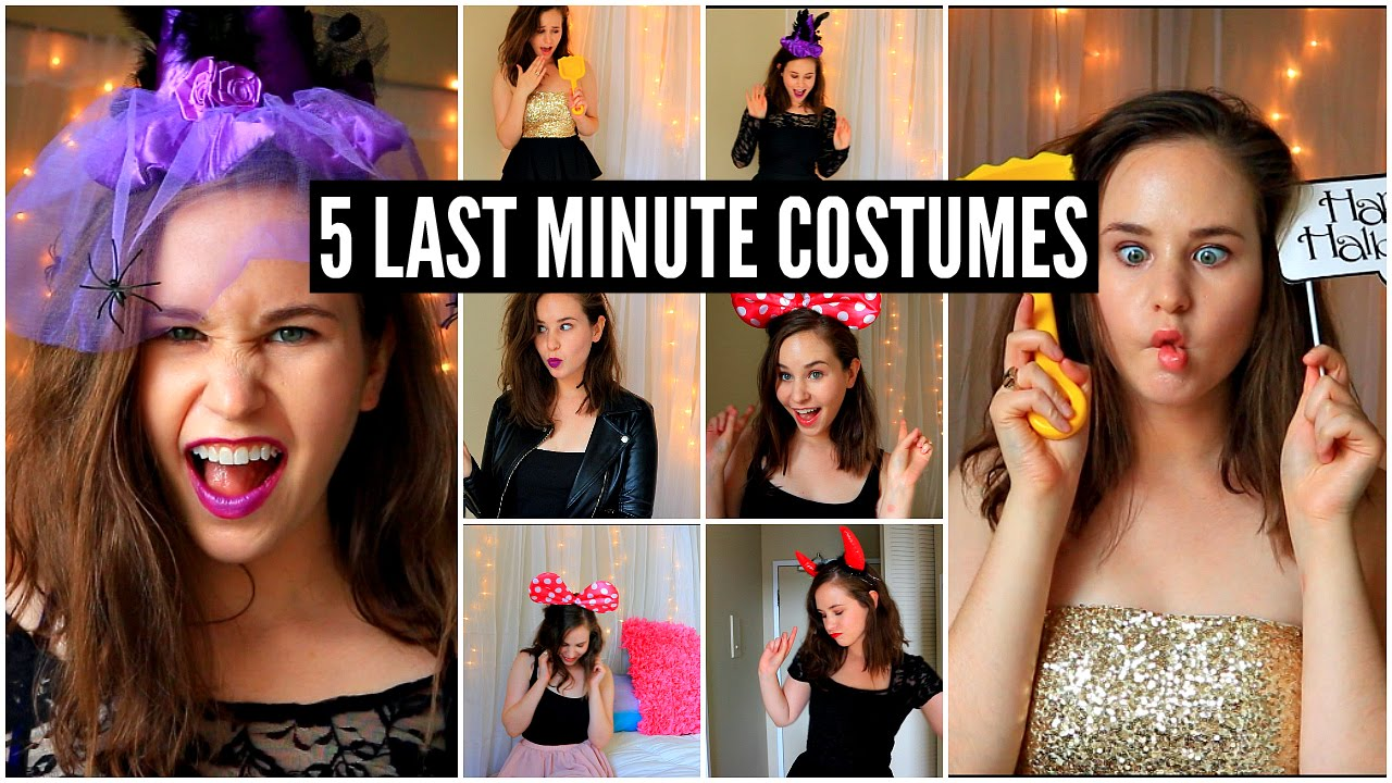 5 last minute halloween costume ideas cheap easy youtube for 5 minute halloween decorations