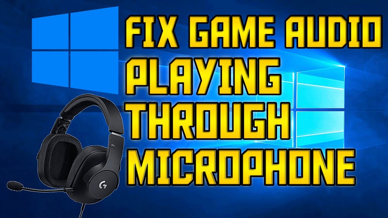 FIX Game Audio Echoing Through Microphone! *2019* (WORKS WITH ANY PC!)