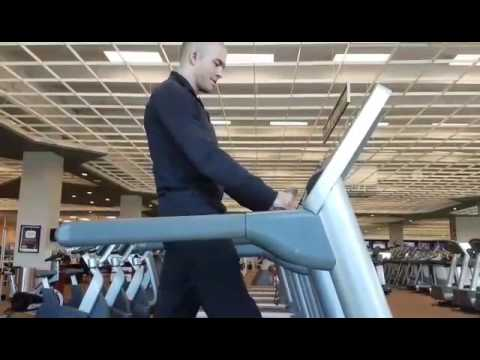 Don't hold on to the treadmill!!!!