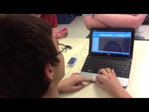 Student demonstrates @aviary music creator