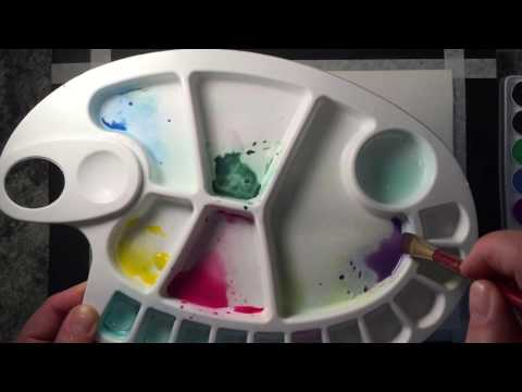 My Watercolour Mandala Experiment P1- the Paint