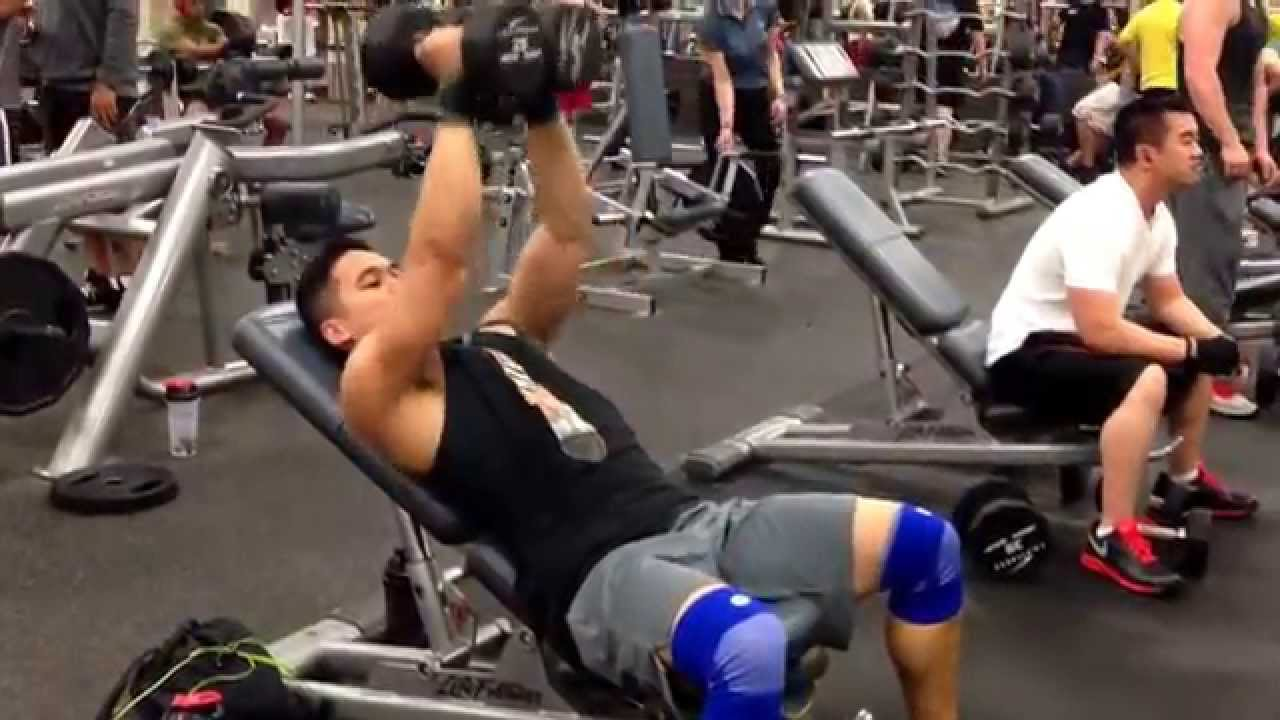 incline dumbbell press to fly to close grip press to reverse fly