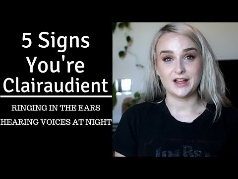 FIRST SIGNS OF CLAIRAUDIENCE || RINGING IN THE EARS SPIRITUAL