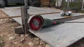 Порезать листовой шифер без пыли-Легко! / How to cut slate? - Easily! Dust free!(, 2014-10-11T21:23:07.000Z)