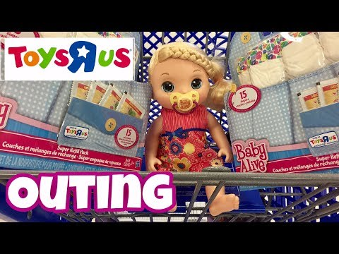 Baby Alive Toys R Us  OUTING With Phoebe Baby Alive SWEET TEARS