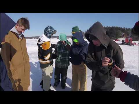 BIGGEST ICE FISHING DERBY MAYHEM AND CIRCUS NO FIGHTING WHILE ICE FISHING