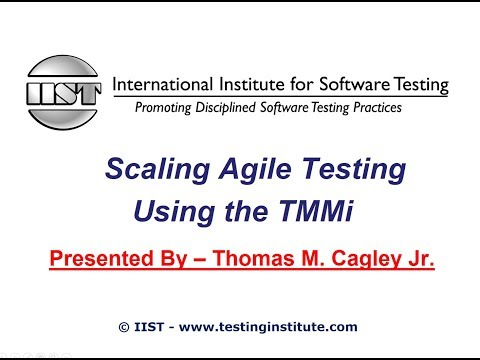 Software Testing Training   Scaling Agile Testing Using the TMMi