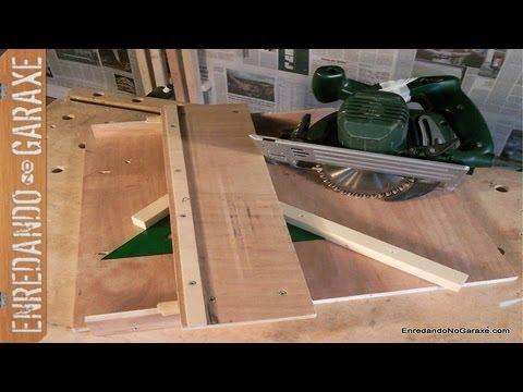 Como hacer un guia para cortar uniones a inglete con la for Sierra de cortar