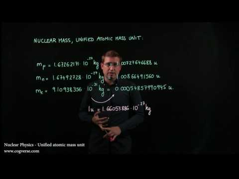 28 - Nuclear Physics - Unified atomic mass unit