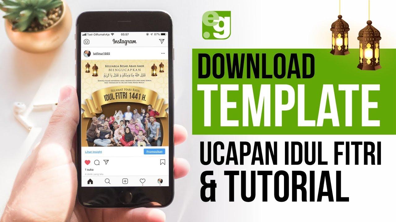 TEMPLATE KARTU UCAPAN LEBARAN - IDUL FITRI | Download