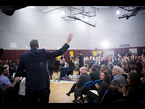 Mayor de Blasio Participates in Bronx Town Hall Meeting