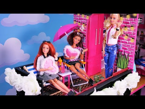 Barbie Story 💜 New house Kamila and Jessica 💜 Pink bedroom 💜 Story with barbie dolls