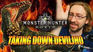 TAKING DOWN DEVILJHO: Monster Hunter World - 1st Big Update