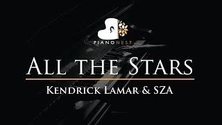 Kendrick Lamar & SZA - All the Stars - Piano Karaoke / Sing Along / Cover with Lyrics