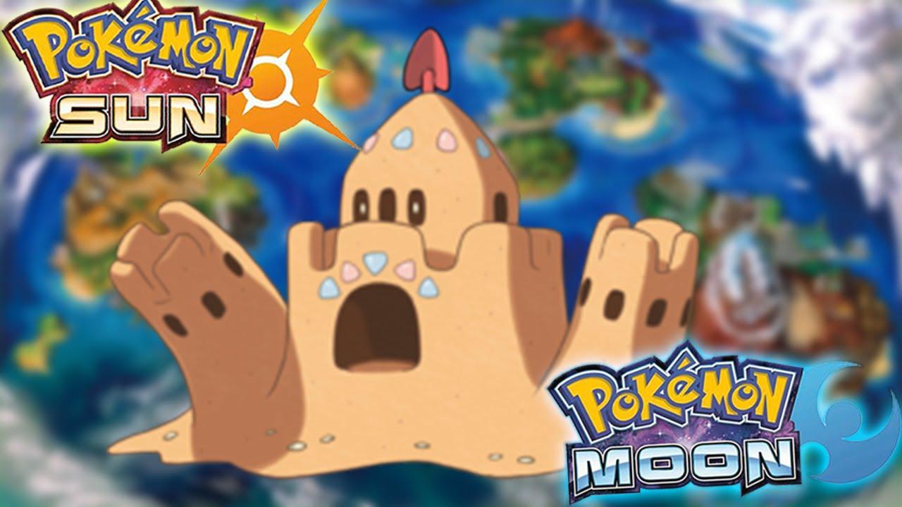 GHOST SAND CASTLE POKEMON? CRAB POKEMON!! - Pokemon Sun and Moon ... for Sandcastle Pokemon  55nar