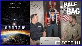 Half in the Bag Episode 111: Independence Day: Resurgence(Mike and Jay see the latest movie from Mike's favorite filmmaker Roland Emmerich. The results may shock you!, 2016-06-27T00:24:42.000Z)