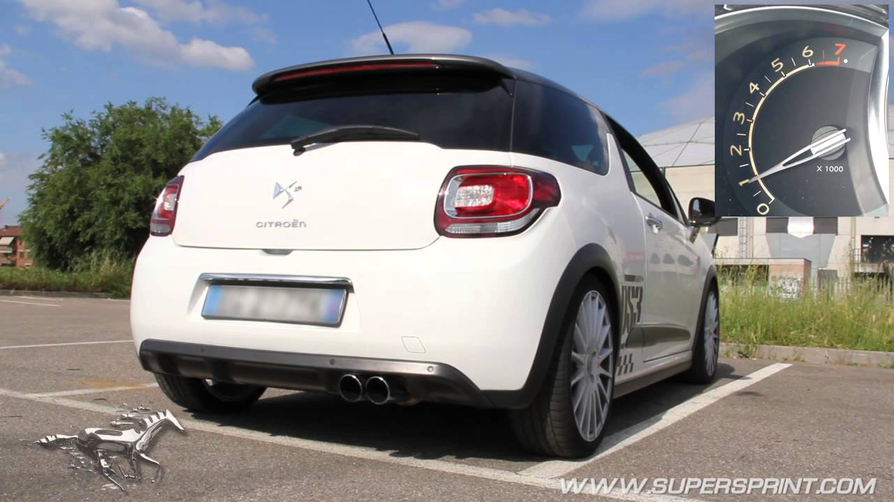 citroen ds3 racing sound with supersprint full exhaust. Black Bedroom Furniture Sets. Home Design Ideas