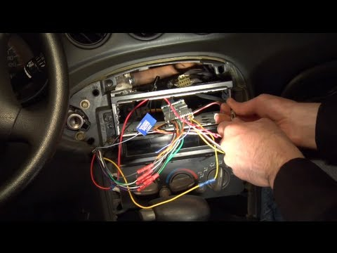hqdefault installing an aftermarket car radio youtube wire harness for aftermarket stereo at crackthecode.co