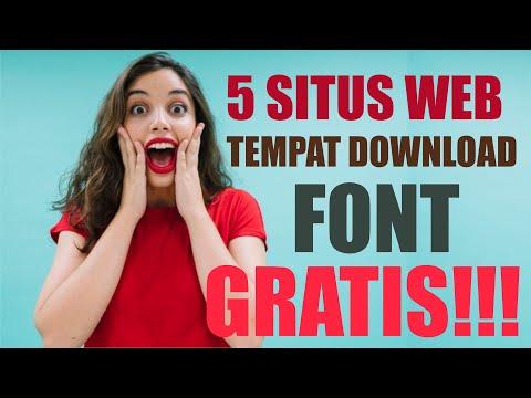 5 Situs Keren Untuk Download Font GRATIS! (di Sertai Cara Download)