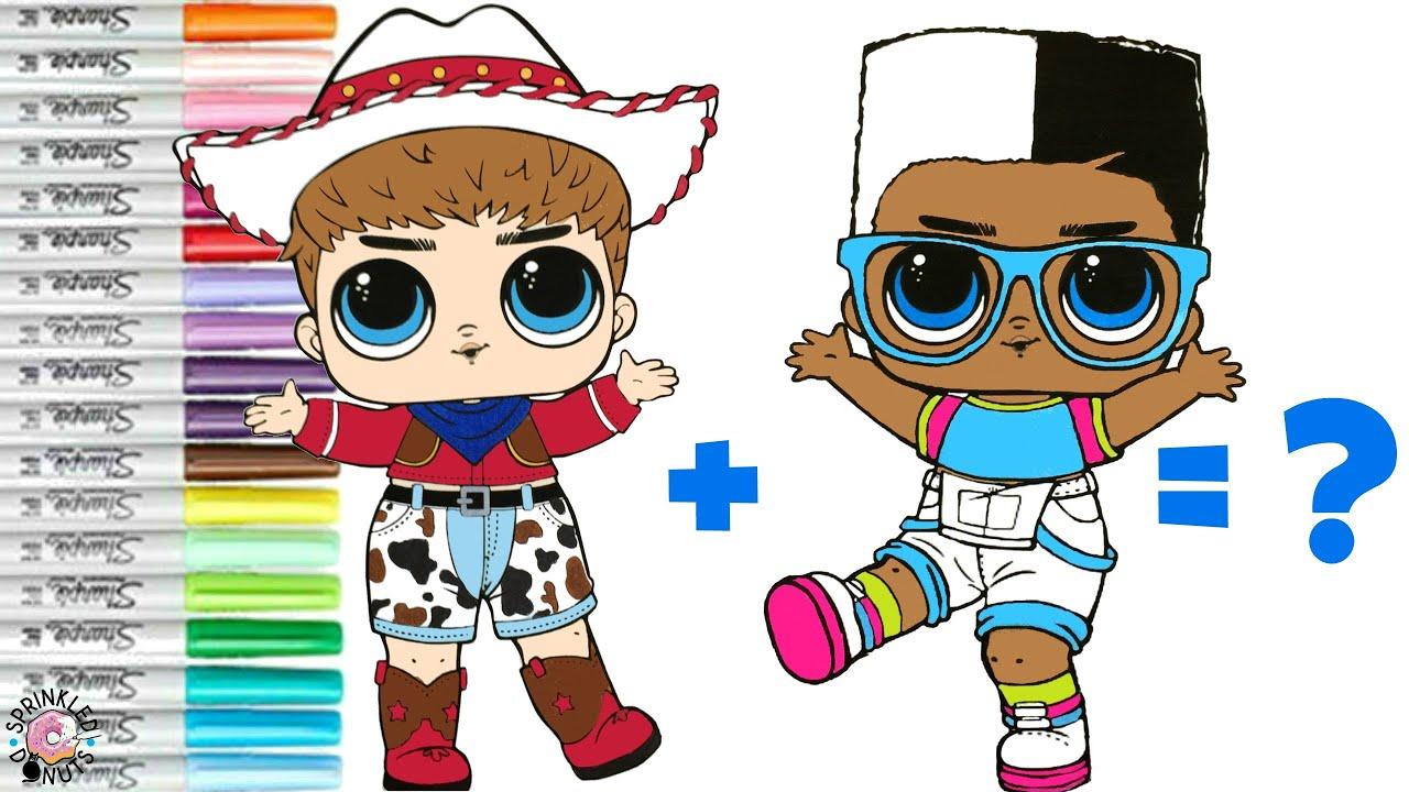 LOL Surprise Coloring Book Page Mash UP The Boy Next Door Do Si Dude become  Dude Next Door