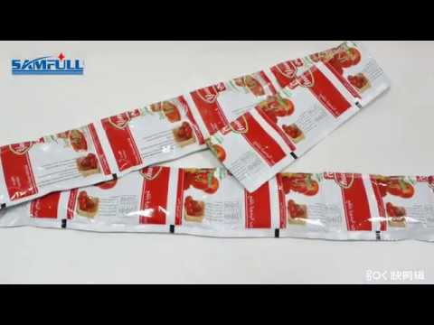 Automatic 4 Sides Seal Ketchup Tomato Sauce Packing Machine - Samfull Pack