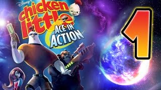 Chicken Little Ace in Action Walkthrough Part 1 (Wii, PS2) Pluto Mission 1