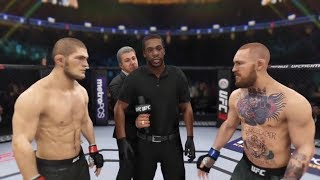 UFC 229 Khabib Nurmagomedov vs Conor McGregor fight simulation UFC 3