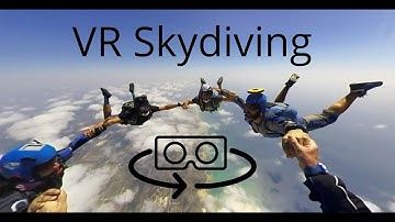 3D 360 VR skydiving experience with the Vuze camera (4K)