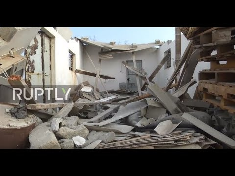 State of Palestine: Gaza houses in ruins after Israeli shelling