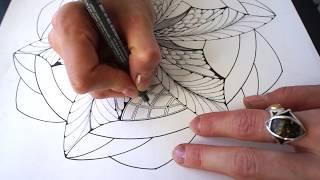Dragon swirl mandala