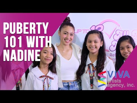 NADINE LUSTRE schools lucky young girls at Whisper Event