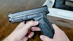 """Springfield XD mod2 45ACP 4"""" service model review and size comparison"""
