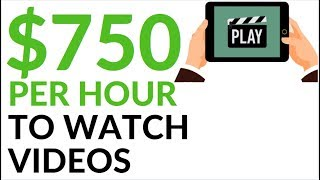 Earn $750 in 1 Hour WATCHING VIDEOS! (Make Money Online)