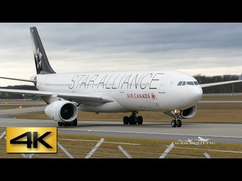 "【4K】Air Canada Airbus A330-300 ""Star Alliance"" special colours @Frankfurt Airport"