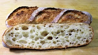 how to make No Knead Baguette at Home_all purpose flour+strong flour_Lodge_Dutch Oven Bread