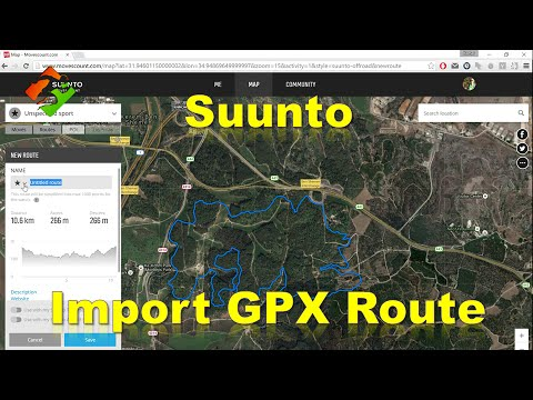 Suunto - Import GPX route