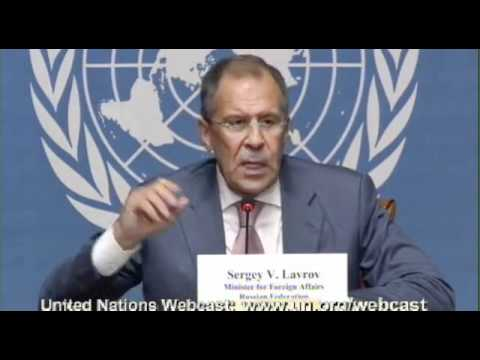 Sergey Lavrov, Foreign Minister of the Russian Federation - Press conference - June 30, 2012