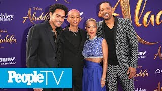 Will Smith's Entire Family Joins Him At The 'Aladdin' Premiere | PeopleTV