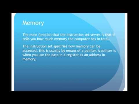 Computer Function episode 5 Instruction Sets