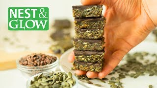 3 Ingredient Pumpkin Seed Chocolate Candy - Healthy and Easy