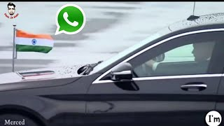 "Narendra Modi Fan Club WhatsApp Status, ""Mercedes Car"""