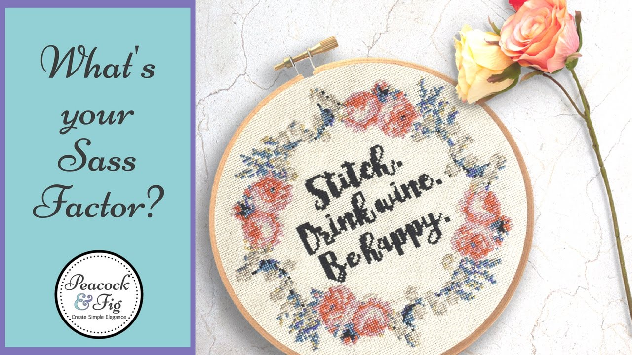 What's your Sass Factor? -- Funny Cross Stitch Patterns