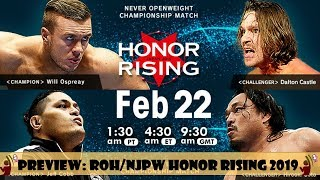 ROH NJPW GIRA HONOR RISING 2019 | PREVIEW