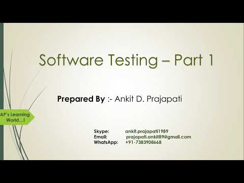 Software Testing - Part 1 (Techniques, Types, Levels, Methods, STLC, Bug Life Cycle, Documentation)