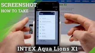 Screenshot INTEX Aqua Lions X1 - How to Take Screenshot / Capture Screen