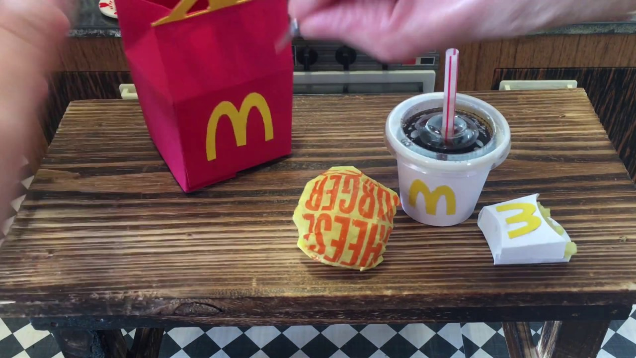 Wendyminicity Mini Mcdonald S Happy Meal Mini Kitchen