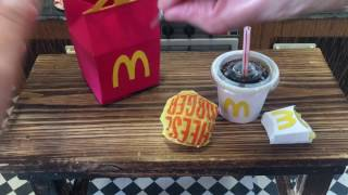 WendyMiniCity : Mini McDonald's Happy Meal. Mini Kitchen